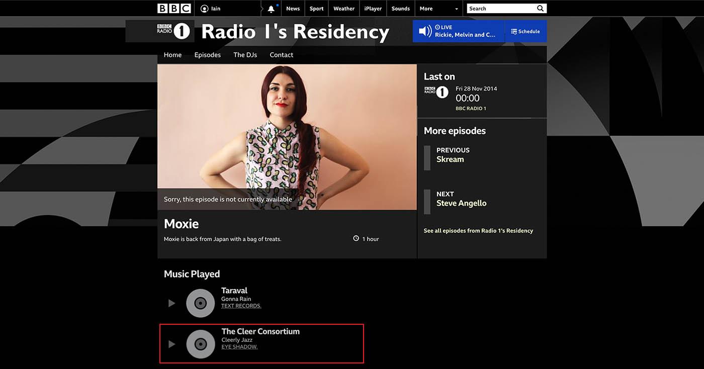 Moxie @ BBC Radio 1