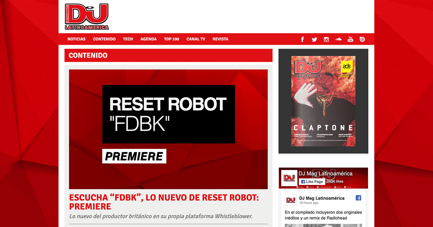 DJ Mag Latinoamérica – Premiere
