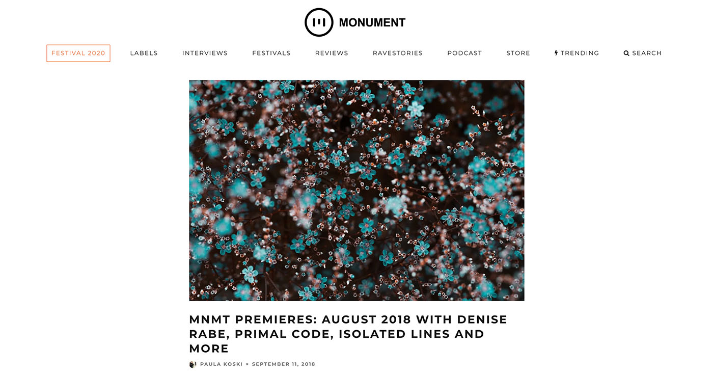 Monument – Premieres