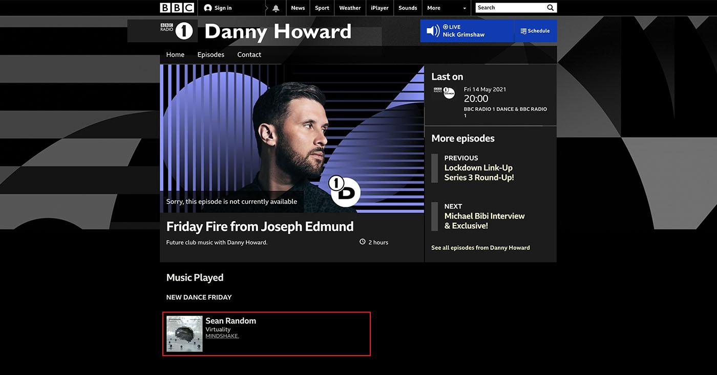 Danny Howard @ BBC Radio 1